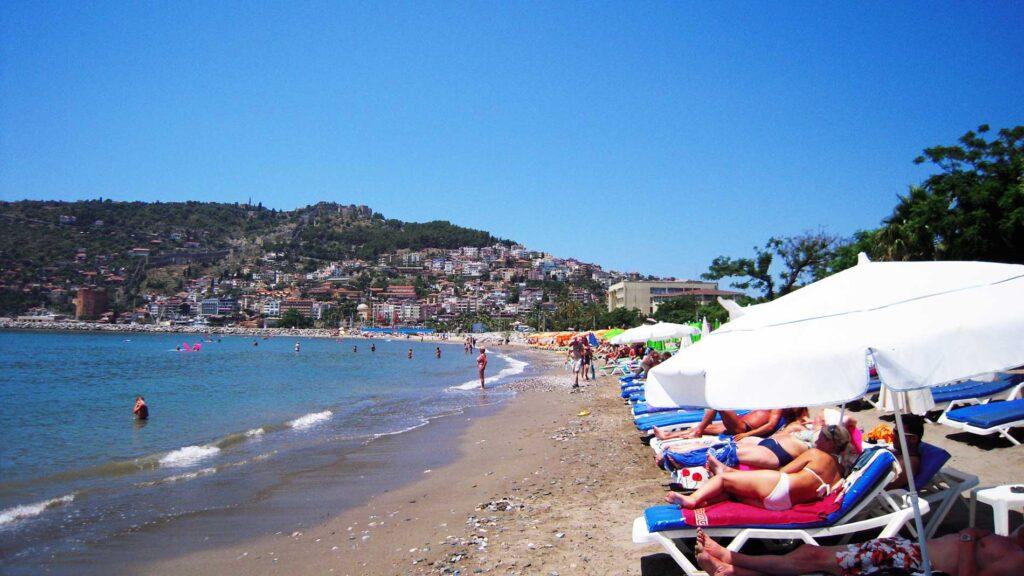 Stranden ved Alanya, Tyrkiet